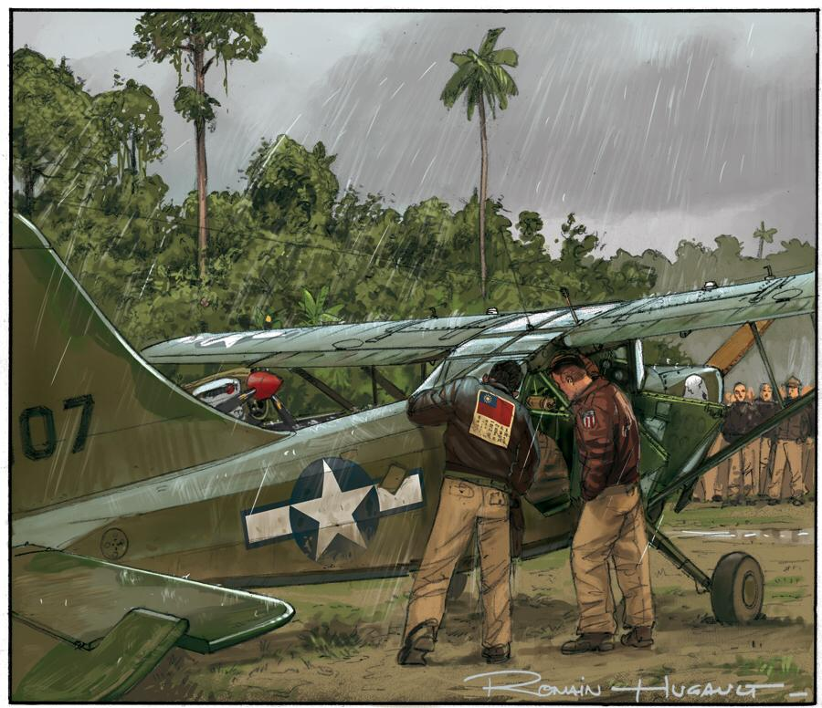 Stinson L-5 in Burma Banshee © Romain Hugault